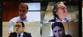 Els consellers han seguit la sessió del Comú de forma telemàtica.