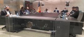 Moments abans de començar la sessió del consell de Comú d'Ordino, aquest matí.