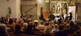 Un moment del concert del Quartet Goldberg en el marc del certamen musical de l'Ordino Clàssic.