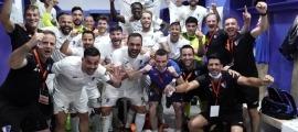L'Inter Club Escaldes va celebrar el triomf de les 'semis' de la Ronda Prèvia. Foto: Interescaldes.com