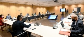 La taula de l'habitatge es va reunir ahir al matí al Centre de Congressos d'Andorra la Vella.