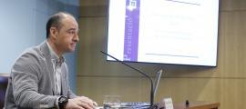 Miquel Rossell, director del cos de Banders, ahir en la presentació del balanç del 2017.