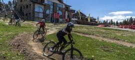 Imatge del Bike Park de Pal durant la temporada d'estiu passada.