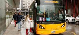 Un autobús a Andorra la Vella.