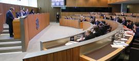 """El conseller d'UL-ILM Joan Carles Camp va criticar que es faci una """"petita reforma"""" i no s'abordi la sostenibilitat de la CASS."""