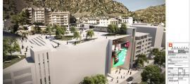 Projecte de Jocs SA en el qual es veu que la unió entre el casino i la plaça del Poble no es podrà fer perquè ara no hi ha cap edifici.