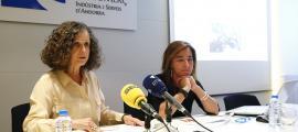 Pilar Escaler i Stella Canturri van presentar el certificat Comerç Excel·lent el 13 de maig passat.