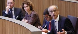 Antoni Martí i Maria Ubach van defensar els passos fets per l'executiu en la negociació de l'acord d'associació amb la UE.