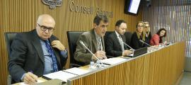 El ministre Xavier Espot i el responsable d'Estadística, Enric Ripoll, van presentar l'estudi a la comissió legislativa d'Afers Socials.