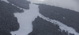 Imatge de les pistes del Tarter durant la jornada d'ahir.