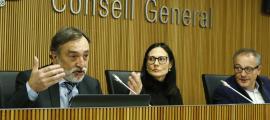 Marc Vila va exposar ahir l'informe del 2018 davant la comissió legislativa de Justícia, Interior i Afers Institucionals.