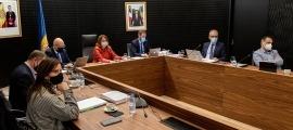 Un moment de la reunió de cònsols de dimarts passat celebrada al Comú d'Escaldes-Engordany.