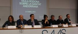 Un moment de la taula rodona organitzada pel Servei Andorrà d'Atenció Sanitària.