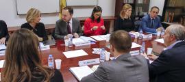Un moment de la reunió de la Comissió Nacional de Prevenció de la Violència de Gènere, que va tenir lloc ahir.