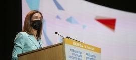 Sílvia Calvó va prendre part ahir en una de les taules de diàleg de la primera jornada de la Trobada Empresarial.