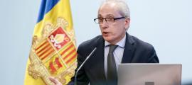 El ministre de Turisme, Francesc Camp, va presentar ahir el balanç dels indicadors turístics del 2018.