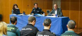 La reunió de la Taula Tècnica de Trànsit va tenir lloc a l'edifici de la policia ahir al matí.