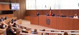 El ministre Gallardo en la seva intervenció al Consell General.