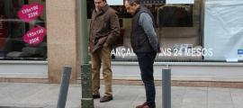 Jaume Carrera i José Carlos Trillo es mirins uns orins a Prada Ramon.