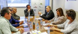 Terceravia i Agreda proposen una taula nacional d'economia circularUn moment de la trobada entre Terceravia i Agreda, ahir a la tarda a Prada Casadet.