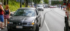 L'últim accident davant de l'Estadi Comunal Joan Samarra Vila va tenir lloc diumenge passat a la tarda.