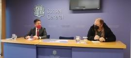 Els parlamentaris socialdemòcrates Pere López i Jordi Font van compareixer ahir al Consell General.