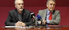 El cap de la llista nacional, Josep Roig, i el president de Progressites-SDP, Jaume Bartumeu.