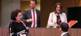 Els consellers socialdemòcrates, Pere López i Rosa Gili, amb els liberals, Judith Pallarés i Jordi Gallardo en una imatge d'arxiu.