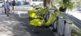 El servei de bicicleta elèctrica compartida es va posar en marxa el mes de juliol de l'any passat.