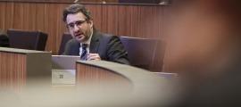 El ministre de Finances, Eric Jover, en una de les seves intervencions ahir al Consell General.