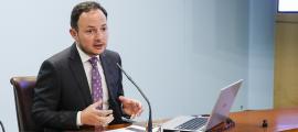 El ministre d'Afers Socials, Justícia i Interior, Xavier Espot, va presentar ahir la llei.