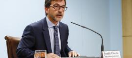 El portaveu de l'executiu, Jordi Cinca, en la compareixença posterior al consell de ministres d'ahir.