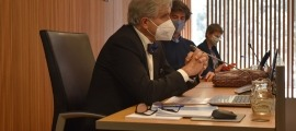 L'economista i assessor de la CASS José Antonio Herce, a la Comissió d'estudi per la sostenibilitat de les pensions de jubilació.