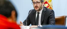 Eric Jover, en la compareixença posterior al primer consell de ministres.