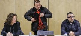 El president del SEP, David Garcia, arribant a una de les reunions dels sindicats amb l'executiu per la nova llei de funció pública.