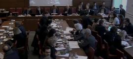 Un moment de la reunió de la comissió de Finances del mes passat en què es va analitzar la proposició de llei.