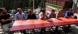 El PS va fer ahir balanç del curs polític al llac d'Engolasters.