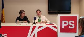 Susanna Vela i Rosa Gili van presentar ahir algunes de les propostes de política sanitària del Partit Socialdemòcrata.