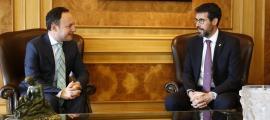 El cap de Govern, Xavier Espot, i l'alcalde de la Seu d'Urgell en funcions, Albert Batalla.