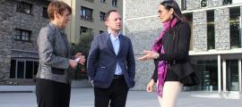 Suñé, Espot i Molné van presentar el vídeo #SíSí pels 26 anys de la Constitució.