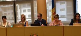 Els cònsols i consellers del Comú de la Massana, ahir en la sessió del consell.