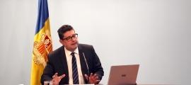 El cap de la Unitat d'Intel·ligència Financera d'Andorra, Carles Fiñana, en una compareixença anterior.