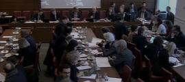 Un moment de la reunió de la comissió de Finances de dimecres passat en què es va analitzar la proposició de llei.