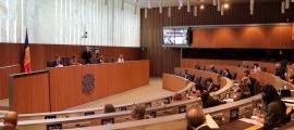 Un moment de la sessió d'ahir del Consell General.