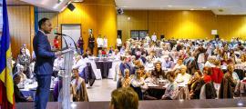Xavier Espot es va adreçar als participants a la Festa Magna 2019 que es va celebrar ahir a la tarda al complex esportiu i sociocultural d'Encamp.