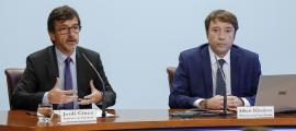 Cinca i Hinojosa van fer balanç de la campanya de l'IRPF corresponent al 2017, ahir.