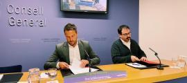 Pere López i Carles Sánchez van argumentar ahir el no a la totalitat dels comptes.