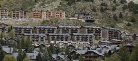 El poble del Tarter, on hi ha una quantitat important d'apartaments turístics.