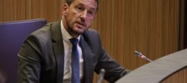 El president del grup parlamentari socialdemòcrata, Pere López, en una intervenció al Consell General.