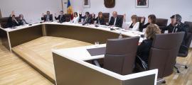 Un moment de la sessió del consell de Comú d'Andorra la Vella en què es van adjudicar els treballs.